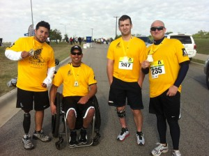Members of Team America's Fund at the 2013 Army Marathon.